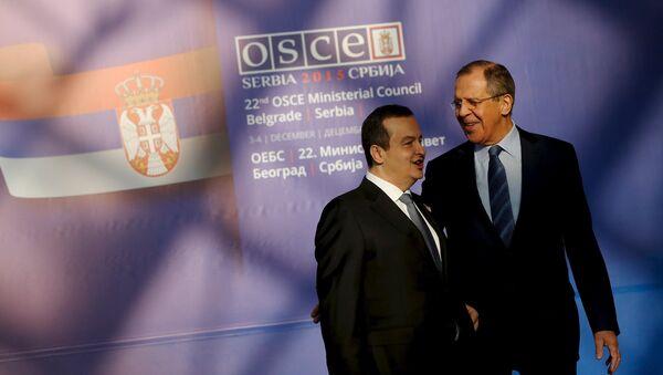 Sergueï Lavrov et Ivica Dacic, Dec. 3, 2015. - Sputnik France