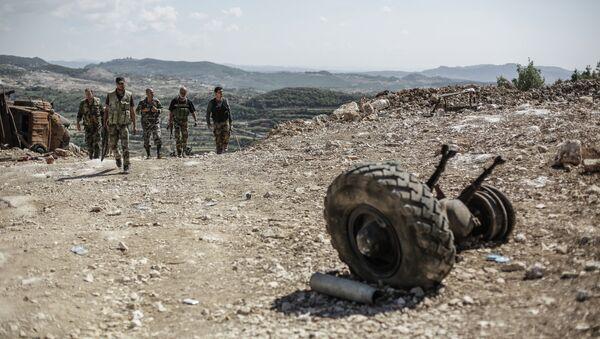 Soldats de l'armée syrienne près de la frontière turque - Sputnik France