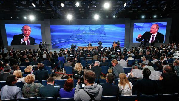 La grande conférence de presse de Vladimir Poutine - Sputnik France