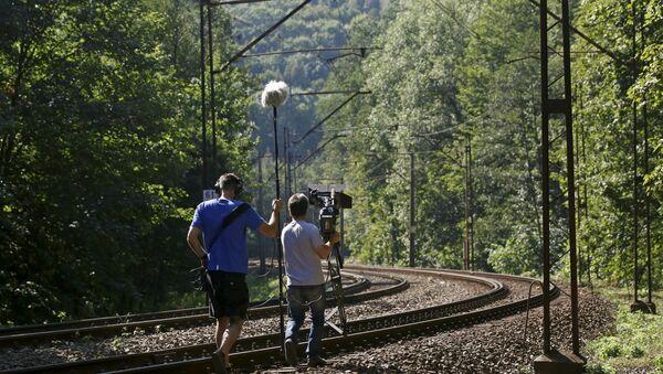 Une équipe de journalistes près de Walbrzych - Sputnik France