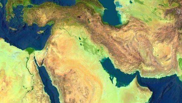 Физическая карта Ближнего Востока - Sputnik France