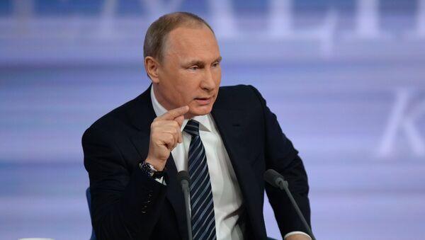 Grande conférence de presse de Vladimir Poutine - Sputnik France