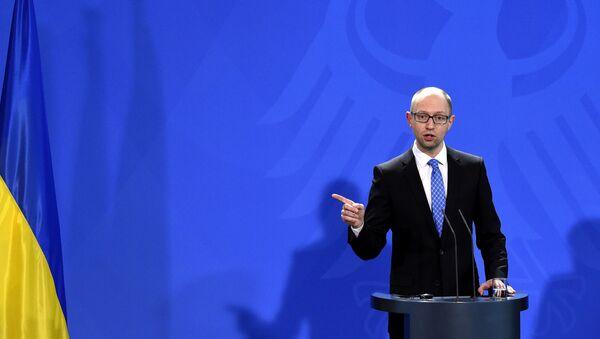 Le premier ministre ukrainien Arseni Iatseniouk - Sputnik France