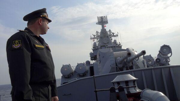 Le croiseur russe Moskva en mission en Syrie - Sputnik France