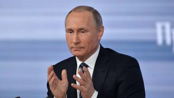Grande conférence de presse de Vladimir Poutine le 17 décembre 2015 - Sputnik France