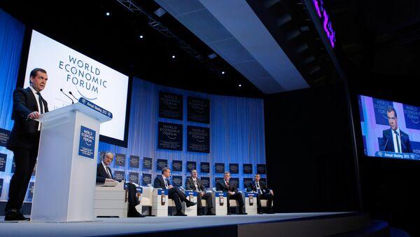Dmitri Medvedev. Forum économique mondial. Davos. Archive photo - Sputnik France