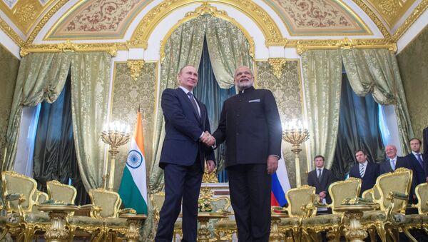 Vladimir Poutine et Narendra Modi - Sputnik France