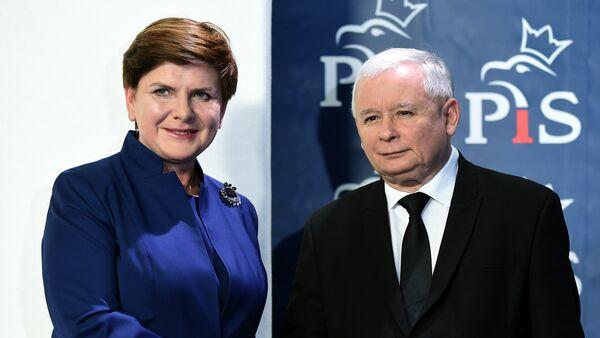 Le président du PiS Jarosław Kaczyński et la première ministre polonaise Beata Szydło - Sputnik France