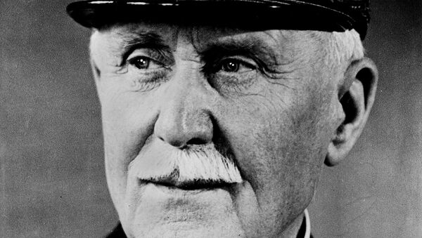 Marshall Henri Philippe Petain, chief of state in France under the German occupation, is shown in this undated photo. Petain was condemned a traitor for leading the pro-German Vichy regime after France's defeat in World War II. - Sputnik France