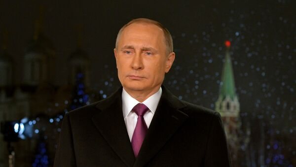 Le président Poutine adresse aux Russes ses vœux du Nouvel An - Sputnik France