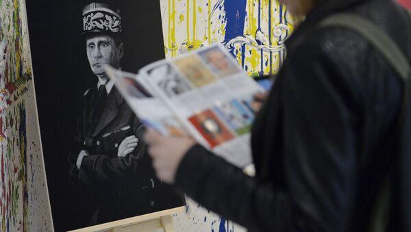 Un portrait de Vladimir Poutine représenté comme Charles de Gaulle - Sputnik France