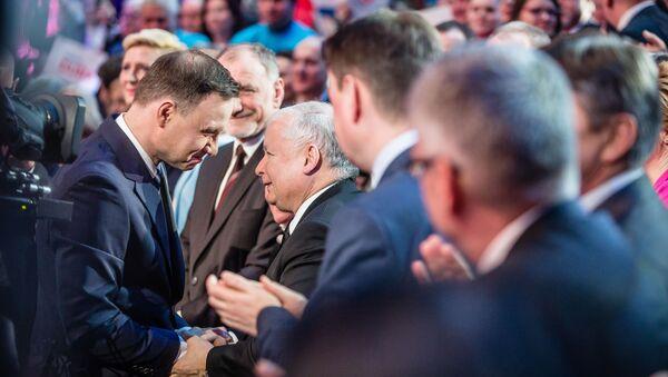 Le président polonais Andrzej Duda et le dirigeant du parti Droit et Justice (PiS) Jarosław Kaczyński - Sputnik France