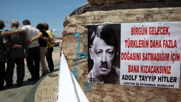 Recep Tayyip Erdogan représenté sous les traits d'Adolf Hitler. Juin 2013 - Sputnik France