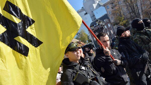 Les militants du régiment ukrainien Azov - Sputnik France