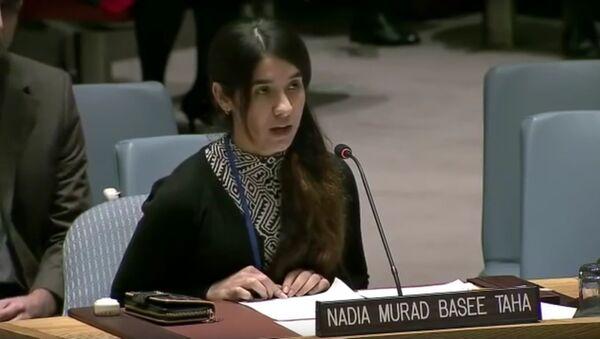 Nadia Murad Basee Taha, capture d'écran de Twitter - Sputnik France