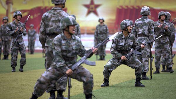 Elèves officiers de l'Armée populaire de libération chinoise, le 22 juillet 2014 - Sputnik France