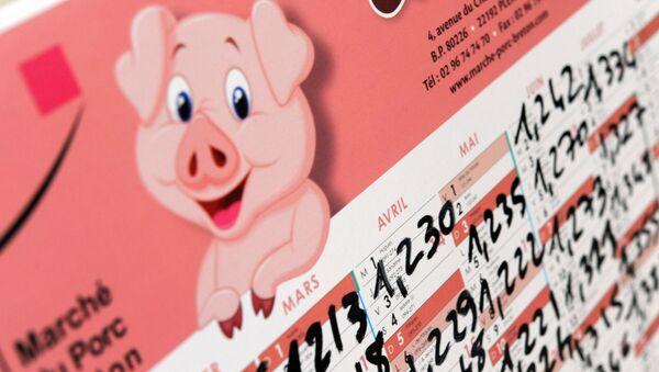 calendrier  avec les prix d'achat de la viande de porc - Sputnik France