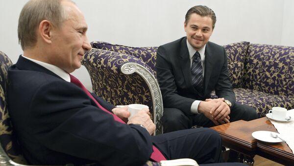 Léonardo di Caprio et Vladimir Poutine à Saint-Pétersbourg - Sputnik France