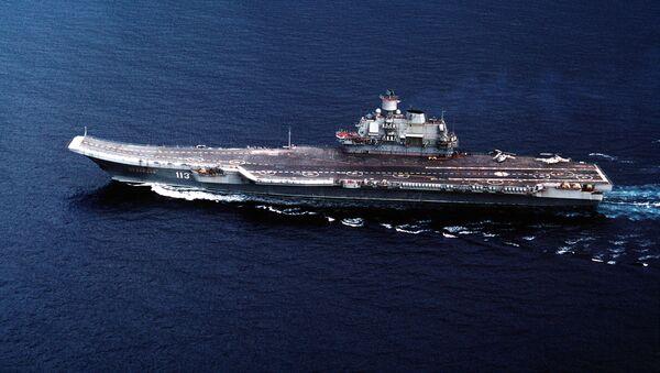 Le porte-avions russe Amiral Kouznetsov - Sputnik France
