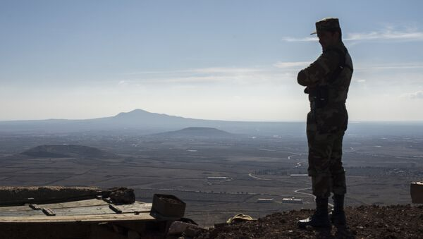 A soldier of the Syrian Arab Army at an observation post at the frontline in the al-Kom village of the Quneitra province in Syria - Sputnik France