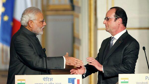 Le premier ministre indien Narendra Modi et le président français François Hollande - Sputnik France