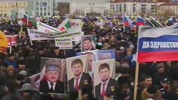 Manifestation en faveur de Poutine à Grozny - Sputnik France