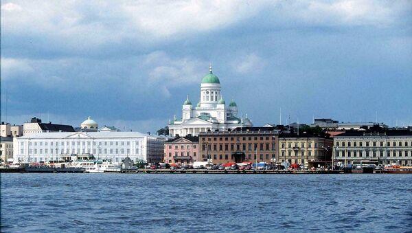 Une vue de la mer sur le port et le marché d'Helsinki - Sputnik France