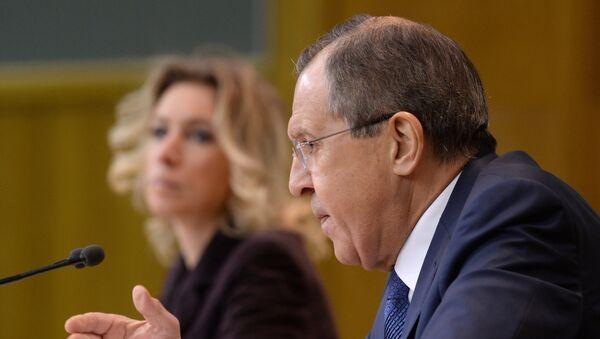 Conférence de presse du ministre russe des Affaires étrangères Sergueï Lavrov - Sputnik France