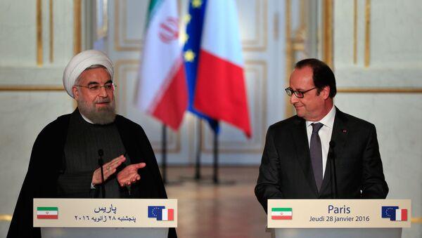 président iranien Hassan Rohani et François Hollande - Sputnik France