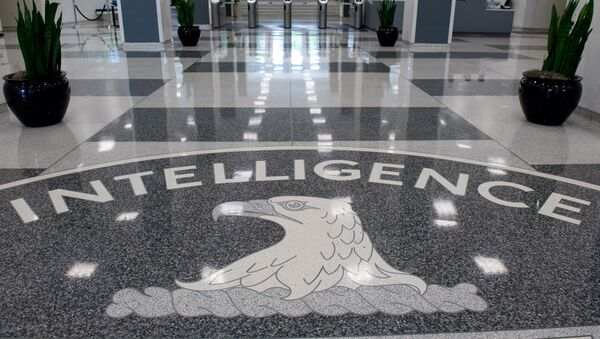 The Central Intelligence Agency (CIA) logo is displayed in the lobby of CIA Headquarters in Langley, Virginia, on August 14, 2008 - Sputnik France