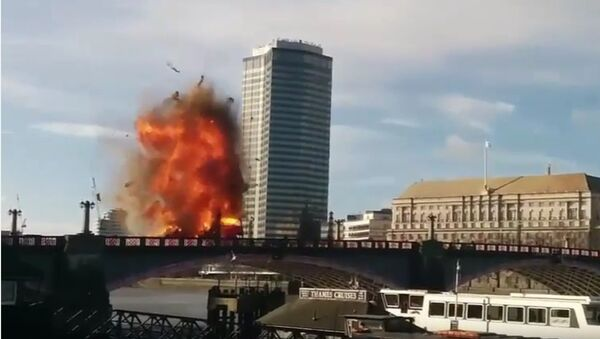 Шина взрыва в Лондоне центра для фильма Джеки Чана - Sputnik France