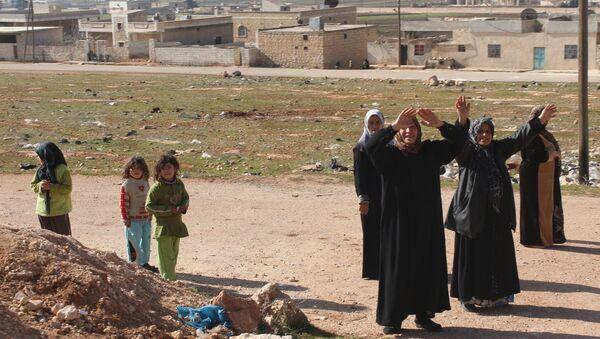ville libérée Nobel et Zahra à Alep en Syrie - Sputnik France