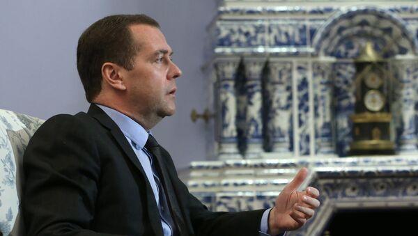 Интервью премьер-министра РФ Д. Медведева немецкой газете Хандельсблатт - Sputnik France