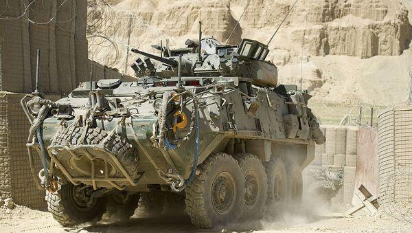 Un véhicule blindé General Dynamics LAV III en Afghanistan - Sputnik France