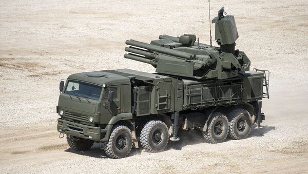 Pantsir-S1 antiaircraft gun / surface-to-air missile system displayed in the run-up to the Army-2015 international military-technical forum in the Moscow Region - Sputnik France