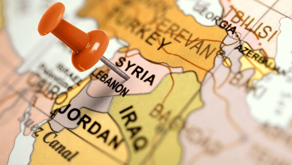 Carte du Proche-Orient - Sputnik France