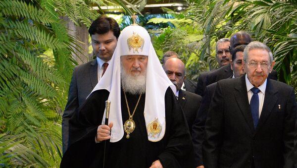 Le Patriarche Kirill a rencontré Raul Castro au Palais de la révolution à la Havane - Sputnik France