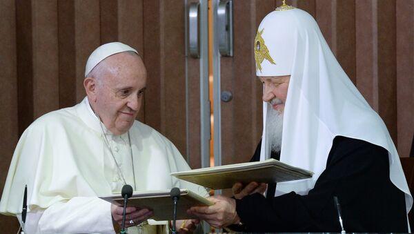 La rencontre historique entre le Pape et le Patriarche - Sputnik France