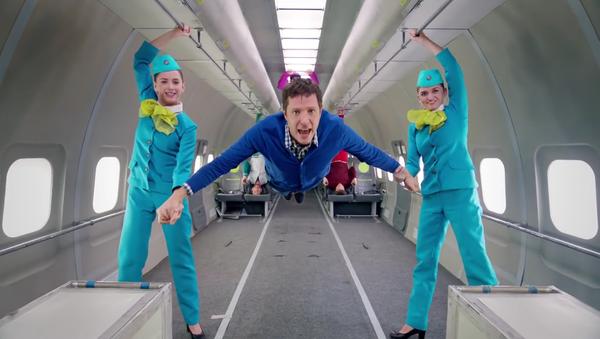 Dans le cadre d'un projet commun, la compagnie aérienne S7 Airlines et le groupe musical d'Indie rock Ok Go ont tourné une vidéo en apesanteur. - Sputnik France