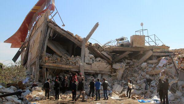 Ruines d'un hôpital soutenu par MSF dans la province syrienne d'Idleb - Sputnik France