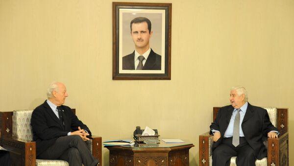 Staffan de Mistura a rencontré le chef de la diplomatie syrienne Walid Mouallem - Sputnik France