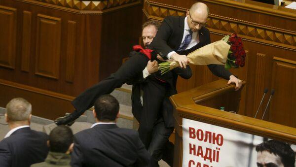 Premier ministre de l'Ukraine Arseni Iatseniouk. Archive photo - Sputnik France