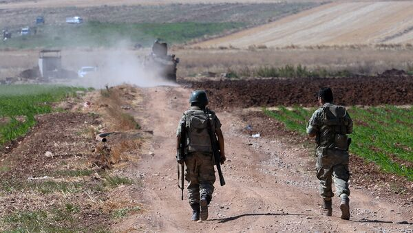 Des soldats turcs à la frointière avec la Syrie - Sputnik France