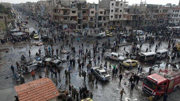 Double attentat à Homs, le 21 février 2016 - Sputnik France