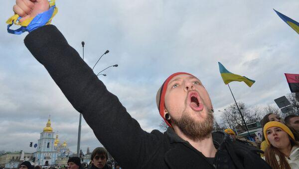 Un meeting de protestation à Kiev - Sputnik France