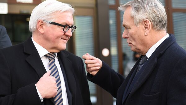 Frank-Walter Steinmeier et Jean-Marc Ayrault - Sputnik France