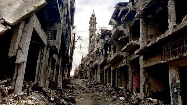 Разрушения в городе Хомс в Сирии - Sputnik France