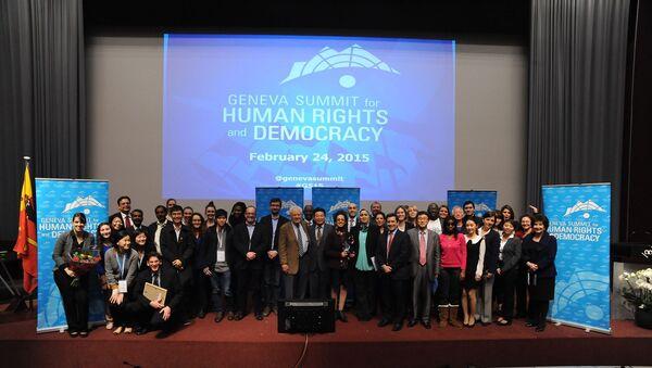 Sommet de Genève pour les Droits de l'Homme et la Démocratie - Sputnik France