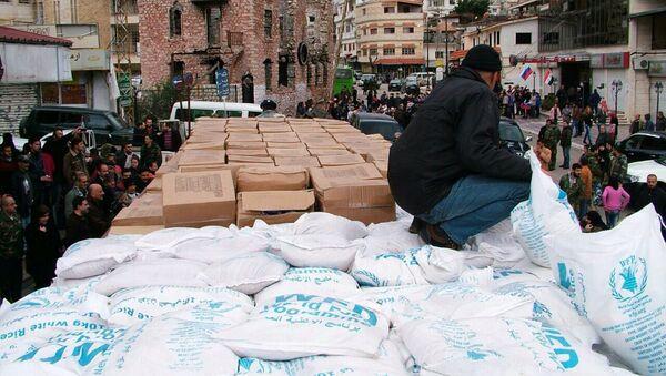 L'aide humanitaire russe livré à la ville syrienne Kessab dans la province de Lattaquié - Sputnik France