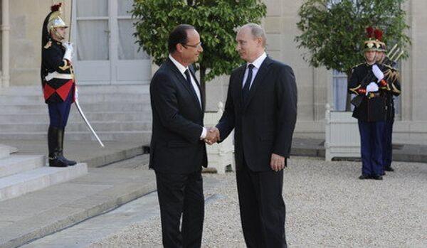 Poutine est arrivé à Paris pour rencontrer Hollande - Sputnik France